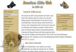 Screenshot www.american-akita.net