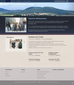 Screenshot von der Löbauer Seite