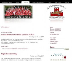 Screenshot - Vereinsseite Tanzgarde